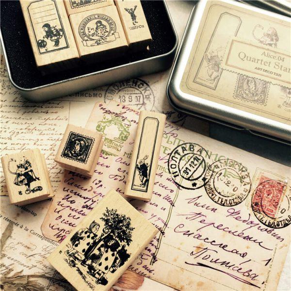 1 13 600x600 - Wooden Stamps - Alice in the Wonderlands (3)