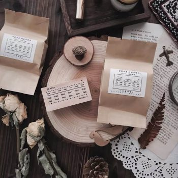 Bullet Journal Planning Wooden Rubber Stamp Set Malaysia