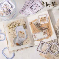 Vintage Labels Stickers Pack Canvas Print Label Stickers Ephemera, Scrapbooking Junk Journal Sticker Set Vintage Journal