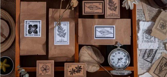 Vintage Stamp Wooden Stamp Bujo Bullet Journal DIY Decoration Scrapbooking