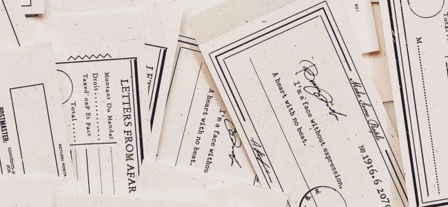 Vintage memo pad paper note paper bullet journal