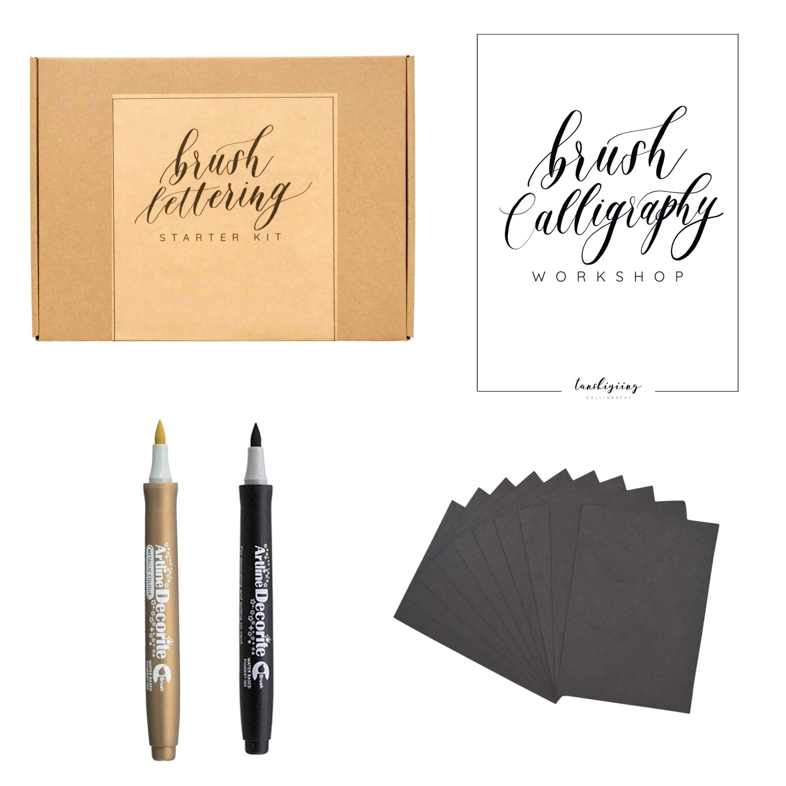 Brush Calligraphy workshop virtual team building