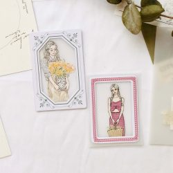 Clever Story Thick Card Frames Vintage Ephemera
